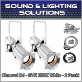 (2) Chauvet DJ EVE E-50Z WHT 50W LED Warm White Gobo Projector Package