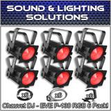 (6) Chauvet DJ EVE P-130 RGB D-Fi DMX Stage Light Wash Light Par Can Package