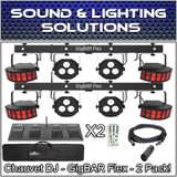 (2) Chauvet DJ Gig Bar Flex 3-in-1 Derby, Quad-Color Pars, RGB UV Strobe Package