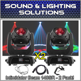 (2) Chauvet DJ Intimidator Beam 140SR Cutting-Edge Moving Head Package