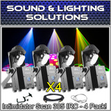 (4) Chauvet DJ Intimidator Scan 305 IRC Compact LED Mirror Scanner Light Package