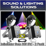 (2) Chauvet DJ Intimidator Scan 305 IRC Compact LED Mirror Scanner Light Package