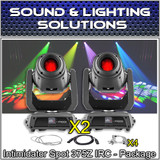 (2) Chauvet DJ Intimidator Spot 375Z IRC 150w LED Moving Head w/ Zoom Package