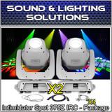 (2) Chauvet DJ Intimidator Spot 375Z IRC 150 W LED Moving Head/Yoke (White)