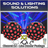 (2) Chauvet DJ Line Dancer Compact DMX LED DJ Club Party Effect Lighting Package