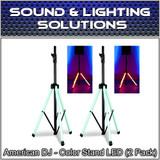 ADJ American DJ CSL100 Color Speaker Stand w/ LED Lighting w/IR Remote (2 Pack)