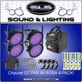 Chauvet DJ EZ Par 64 Four Pack Special
