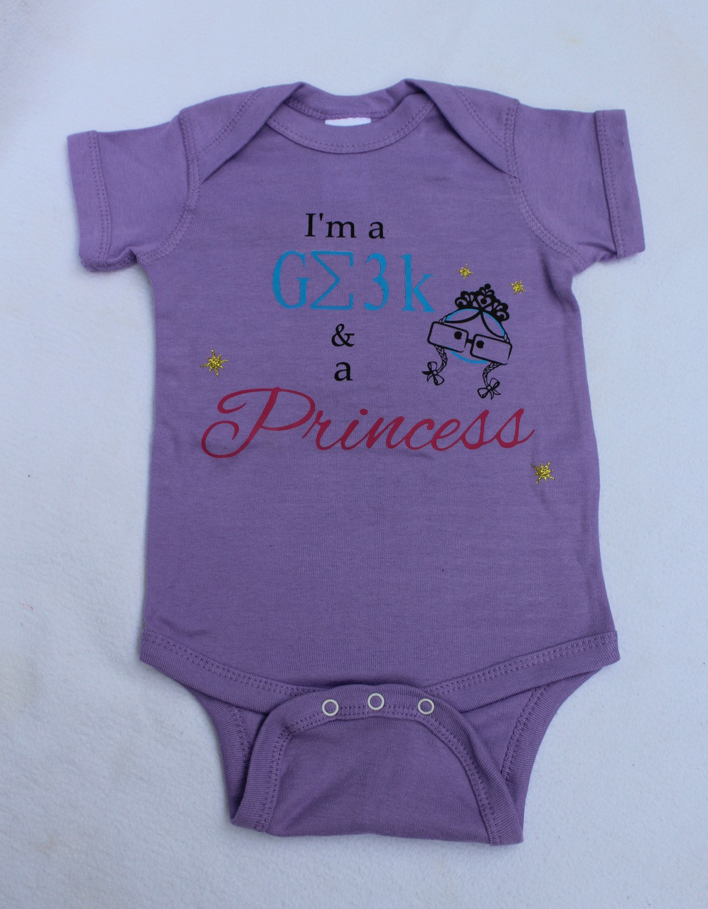 I M A Geek And A Princess Onesie Baby Geekery