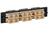 Fiber Adaptor Panel 12 count, MM 6 SC Duplex conn.
