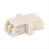 Fiber Coupler LC/LC Duplex, Multi Mode,Bronze Sleeve, White