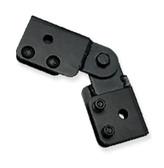 Swiveling Butt Splice kit for ICC ladder rack, black
