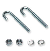 J-Bolt Mounting Kit (2x J-Bolts, 2x Hex Nuts, 2x washers)ICC
