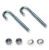 J-Bolt Mounting Kit (2x J-Bolts, 2x Hex Nuts, 2x washers)ICC
