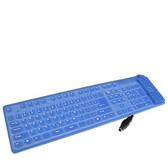 Keyboard 107 Key, USB/PS2, Blue, Foldable, Carbon Pill