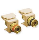 Speaker Jacks, Gold Binding Post, For Ivory Face Plate