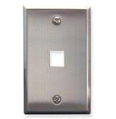 Face Plate 1 Port Stainless Steel for flush mounting jacks
