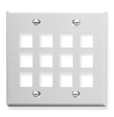 Face Plate Double Gang 12 Port White ICC