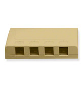 Surface Mount Box 4 Hole Ivory (Elite style)