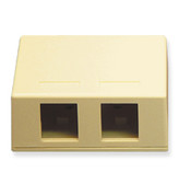 Surface Mount Box 2 Hole Ivory ICC