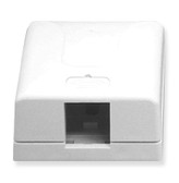 Surface Mount Box 1 Hole White ICC