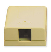 Surface Mount Box 1 Hole Ivory ICC