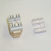 Jack CAT6 White RJ45 8P8C Connex, 180 Degree