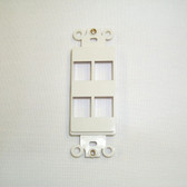 Decora insert 4 keystone port white
