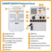 UPS Tripp Lite SmartPro SMART3000VS - AC 120 V - 2.25 kW -