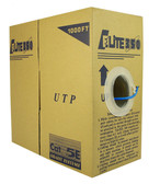 CAT5E PVC 4 Pair 350MHz Solid (Bare Copper), Blue, 1000 feet Pull Box Elite