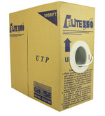 CAT5E PVC 4 Pair 350MHz Solid (Bare Copper), White, 1000' Per Box Elite