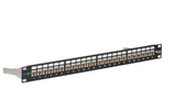 Patch Panel CAT6A 10G FTP STP Shielded 24 Port 1U Rack Mt. (Includes 24 CAT6A  Jacks IC1078S6A0)