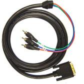 HDTV Cable DVI-I (analog) to 3RCA Male, (Y/Pb/Pr) 6'
