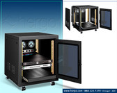 """Cabinet Black 24"""" Wide, 36"""" Deep, 29.25 NO FANS INCLUDED"""