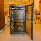 """Server Cabinet 22U 19"""", 1 Shelf 46""""Hx24""""Wx38.5""""D,Black,W/Fan Tray( 4 fans)"""