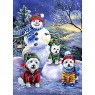 Westie Note Cards Snowballs