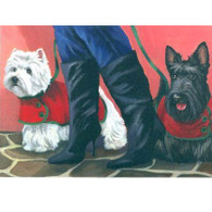Westie Note Cards Awesome Pedigree