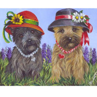 Cairn Terrier Note Cards Two Sisters