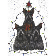 Scottie Holiday Tree Greeting Cards