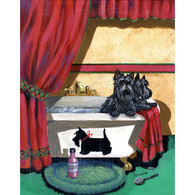 Scotties in the Bathtub Note Cards