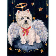 Westie Angel Note Cards