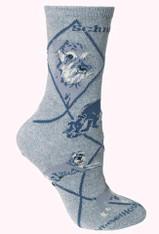 Miniature Schnauzer Socks Grey