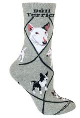 Bull Terrier Socks Grey