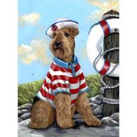 Airedale Terrier Skipper Garden Flag