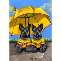 Scottie Sunshine Twins Garden Flag