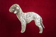 Bedlington Terrier Pewter Pin