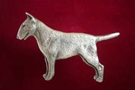 Bull Terrier Pewter Pin