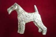 Wire Fox Terrier Pewter Pin