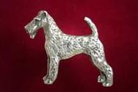 Irish Terrier Pewter Pin