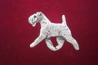 Lakeland Terrier Pewter Pin - Trotting