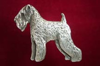 Soft Coated Wheaten Terrier Pewter Pin